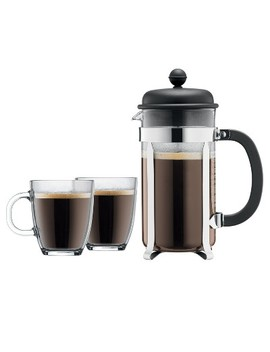 Bodum Brazil 8 Cup French Press Coffee For Two Set   Black by Bodum