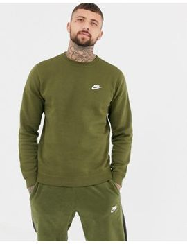 Nike Club Sweat In Green 804340 395 by Nike
