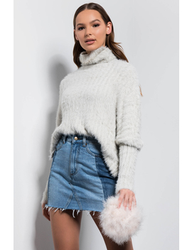 Winter Wonder Fuzzy Turtleneck Sweater by Akira