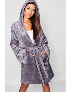Multi Colour Robe Star Print by Boohoo