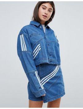 Adidas Originals X Danielle Cathari – Jeansjacke Mit Diagonalen Seitenstreifen by Asos