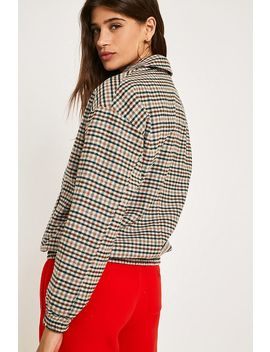 Uo Check Print Harrington Jacket by Urban Outfitters Shoppen