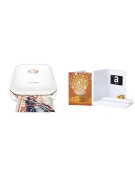 Hp Sprocket Portable Photo Printer (White) With Additional 40 Sheets Zink Sticky Backed Photo Paper by Hp