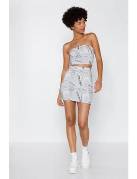 News Flash Mini Skirt by Nasty Gal