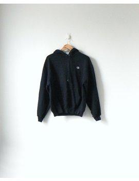 90s Champion Black Hoodie   Vintage Champion Sweatshirt   90s Hoodie 90s Sweatshirt 90s Streetwear Black Hoodie Black Sweatshirt   Men's L by Etsy