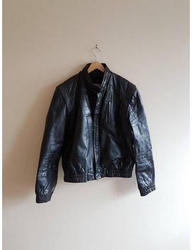 Vintage Leather Jacket, Black Leather Jacket, Sheepskin Leather, Soft Leather, Biker Jackets, Motorcycle Jackets by Etsy