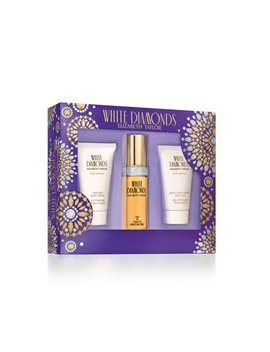 Elizabeth Taylor White Diamonds Fragrance 3 Piece Gift Set For Women by Elizabeth Taylor