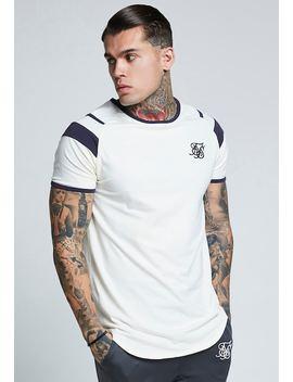 Sprint Raglan Gym Tee   Print T Shirt by Siksilk