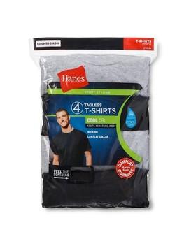 Hanes®   Men's 4pk Dri Crew Neck Multi Colored Shirts by Hanes