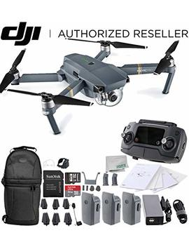 Dji Mavic Pro Collapsible Quadcopter Drone Ultimate Backpack Bundle With Remote Controller, Intelligent Flight Battery, 8330 Folding Propellers, Gimbal Clamp, Charger, 16 Gb Micro Sd Card + More by Dji