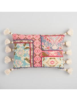 Multicolor Tapestry Printed Lumbar Pillow by World Market