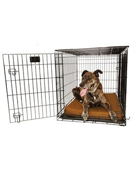 """Orthopedic 4"""" Dog Crate Pad By Big Barker. Waterproof & Tear Resistant. Thick, Heavy Duty, Tough, Washable Cover. Luxury Orthopedic Support Foam Inside. Sized To Perfectly Fit Inside Standard Crate Sizes. Made In Usa. by Big Barker"""