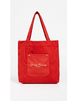 Corduroy Big Pocket Tote by Opening Ceremony