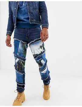 G Star X Jaden Smith Spiral Waterfall Patches 3d Slim Jeans by G Star