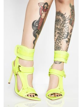 Electric Deep End Strappy Heels by Cape Robbin