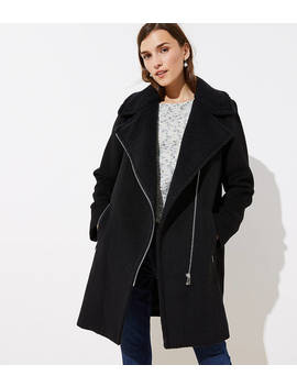 Faux Shearling Moto Jacket by Loft