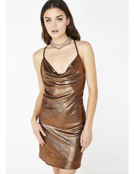 Strictly Servin' Metallic Dress by Jealous Tomato