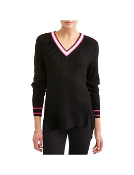 Women's Slouchy V Neck Raglan Tunic by No Comment