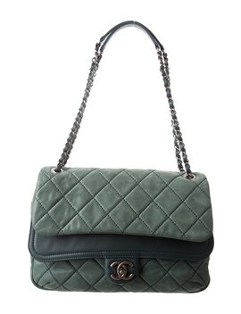 Iridescent Calfskin In The Mix Jumbo Double Flap by Chanel