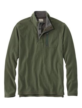 L.L.Bean Fleece Layering Button Mock Shirt, Slightly Fitted by L.L.Bean