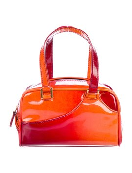 Patent Leather Handle Bag by Christian Dior