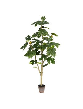 Bay Isle Home Artificial Potted Fig Floor Foliage Tree In Pot & Reviews by Bay Isle Home
