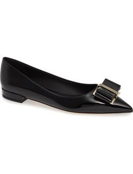 Zeri Pointy Toe Flat by Salvatore Ferragamo