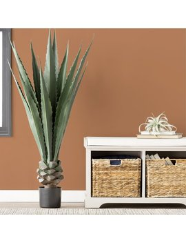 Trent Austin Design Artificial Giant Agave Floor Plant In Pot & Reviews by Trent Austin Design