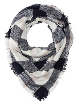 Plaid Fringe Blanket Scarf by Charlotte Russe