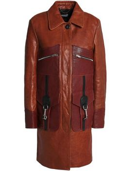 Leather Coat by Coach