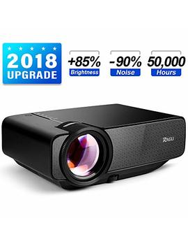 "Ragu Z400 Mini Projector, 2018 Upgraded (+85 Percents Brightness) 180"" 1080 P Hd Home Movie Portable Video Projector For Pc/Mac/Dvd/Tv/Xbox/Movies/Games/Smartphone With Hdmi/Vga/Usb/Av/Sd by Ragu"