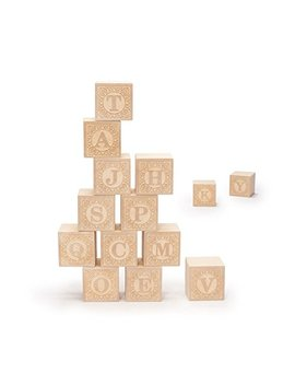 Uncle Goose Uppercase Alphablank Blocks   Made In Usa by Uncle Goose