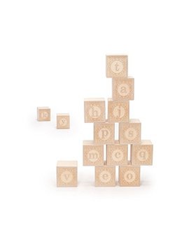 Uncle Goose Lowercase Alphablank Blocks   Made In Usa by Uncle Goose