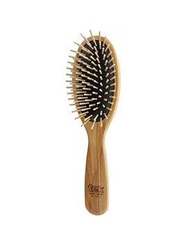 Tek Big Oval Hair Brush In Ash Wood With Regular Pins   Handmade In Italy by Tek