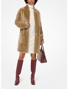 Shearling Cocoon Coat by Michael Michael Kors