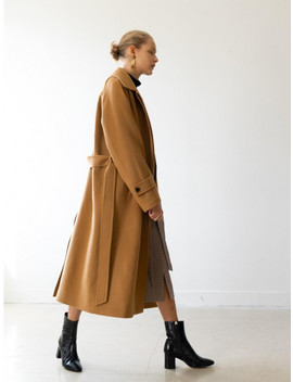 [Essential] Cashmere Single Coat Camel by Kindersalmon