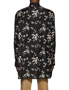 Floral Polished Twill Pajama Tunic by Haider Ackermann