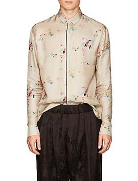 Floral Polished Twill Shirt by Haider Ackermann
