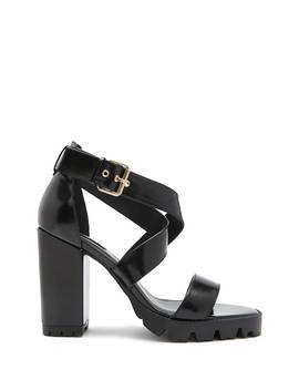 Patent Faux Leather Strappy Heels by Forever 21