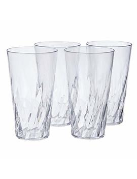Palmetto 20 Ounce Clear Plastic Tumblers | Set Of 16 by Us Acrylic