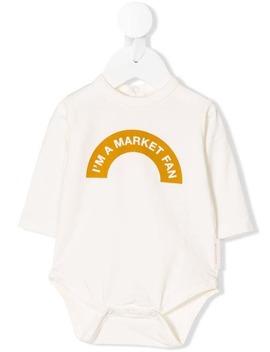 Logo Print Bodysuit by Tiny Cottons