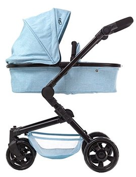 Triokid 2 In 1 Deluxe Baby Doll Stroller Sportline X1 Blueberry Blue Drawable Fabric With Swiveling Wheels & Adjustable Handle by Triokid