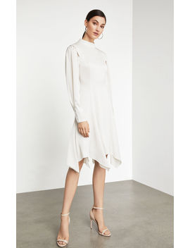 Mock Neck Asymmetrical Dress by Bcbgmaxazria