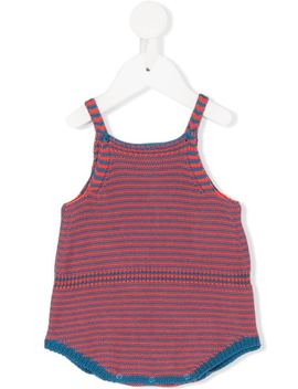 Knitted Striped Rompers by Knot