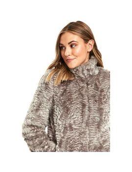 Wallis   Petite Grey Faux Fur Coat by Wallis