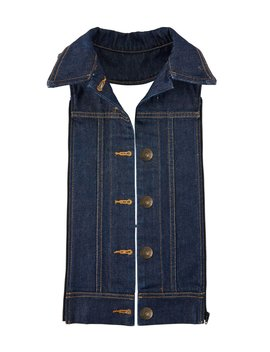 Slate Button Front Denim Dickey by Veronica Beard
