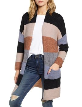 Stripe Long Cardigan by Dreamers By Debut