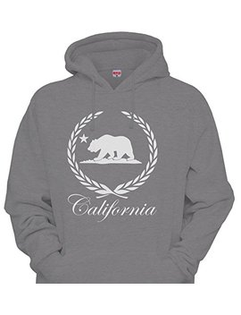 Mens Heather Gray California Cadillac Caddy Cali Dope Hoodie Sweatshirt by Cali Design