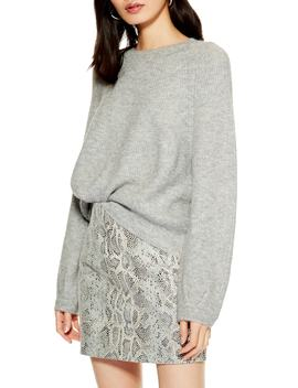 Ribbed Crewneck Sweater by Topshop