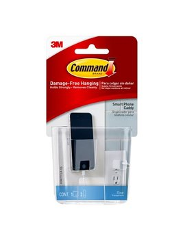 Command Smart Phone Caddy, Clear, 1 Caddy/Pack by Command